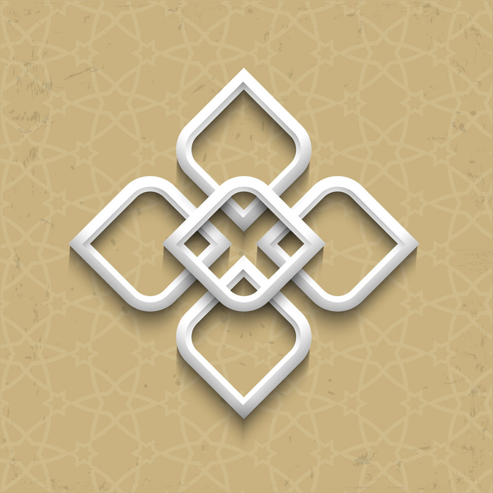 3d Pattern In Arabic Style On Grunge Background