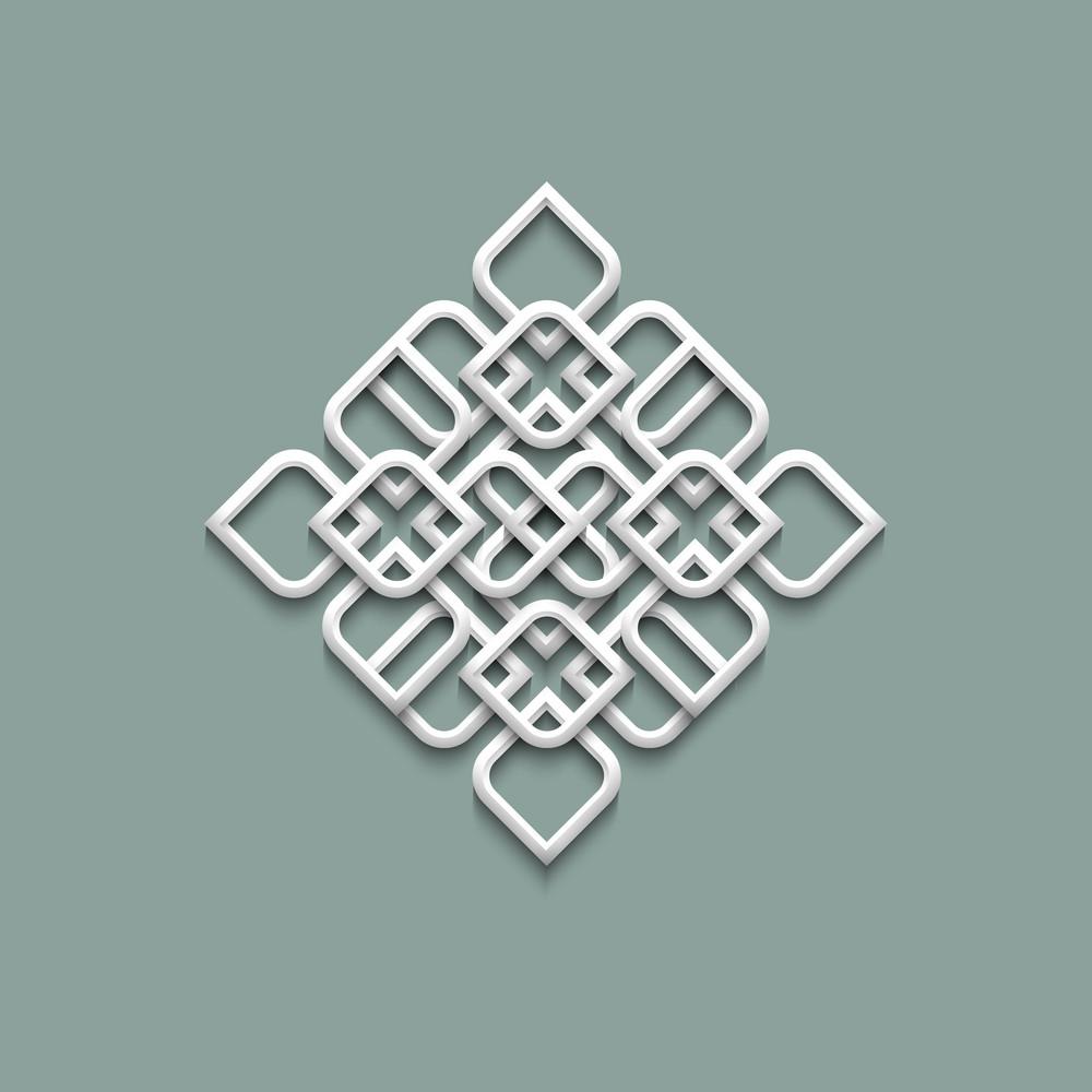 3d Pattern In Arabic Style