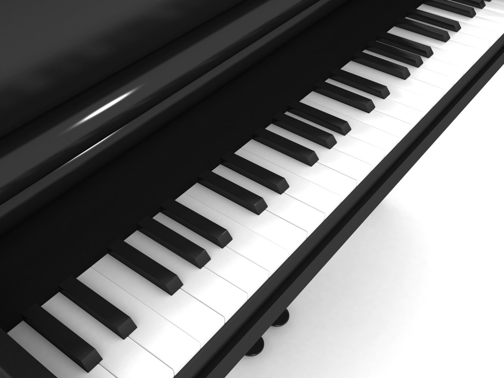3d Piano Illustration