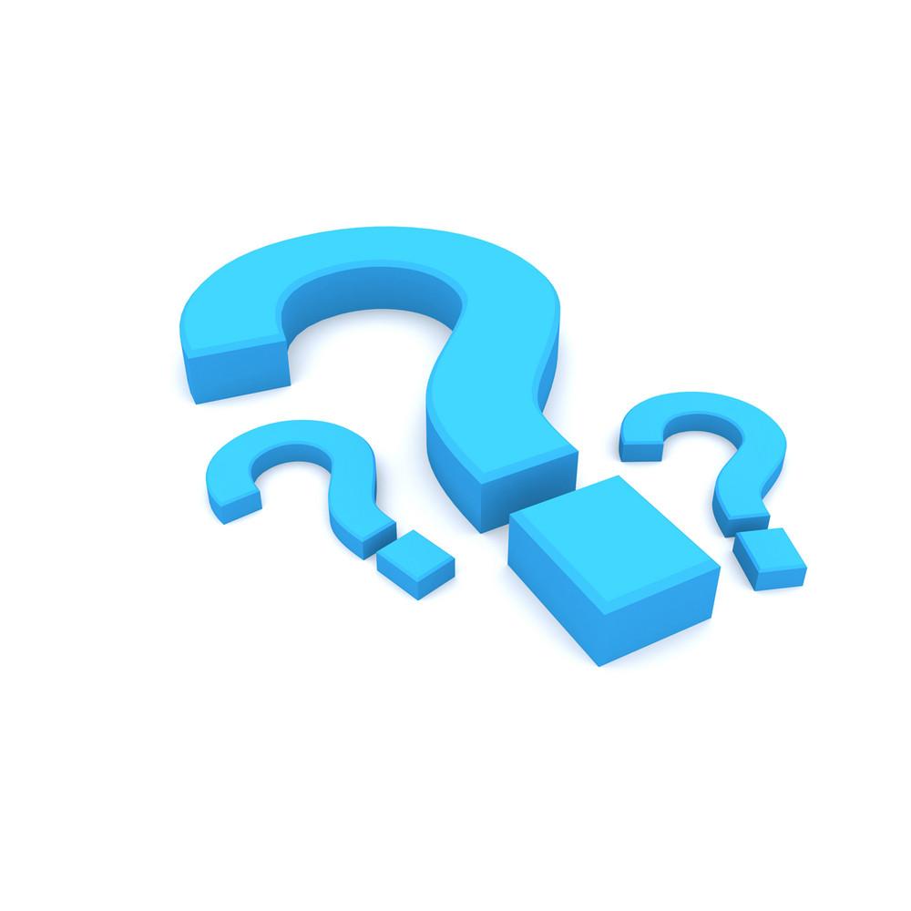 3d Question Mark Symbols