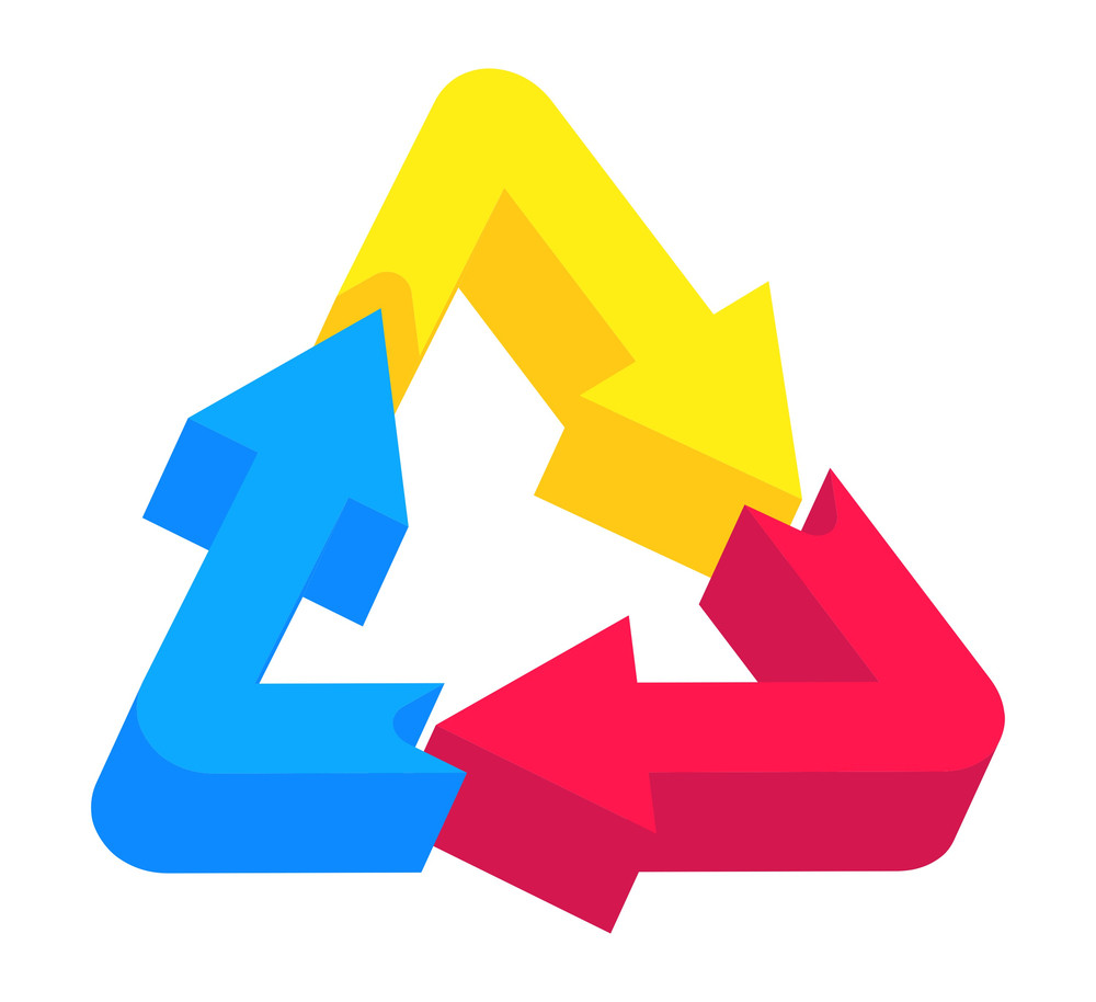 3d Recycling Icon