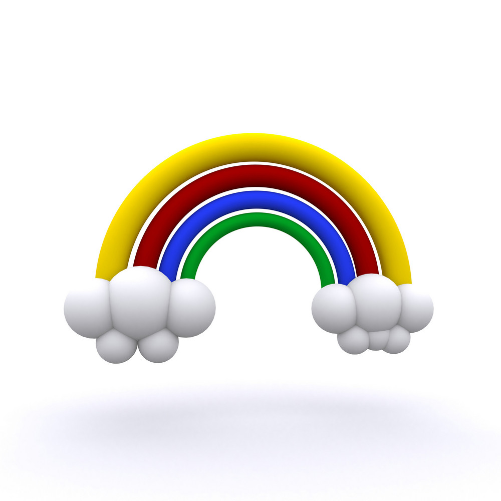 3d Rendered Rainbow