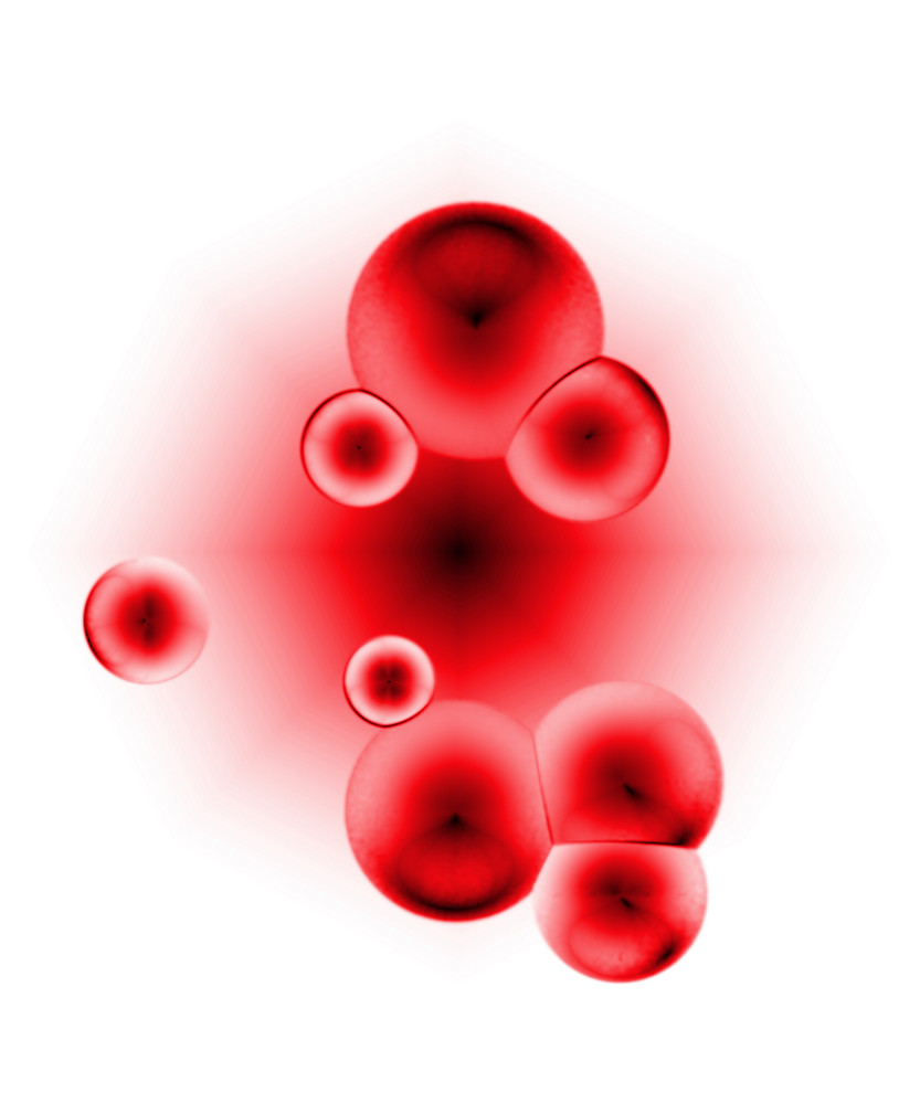 3d rendering of some red circular cells.