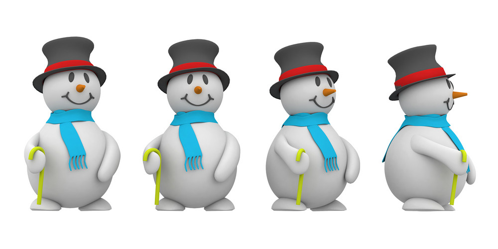 3d Snowman Collection