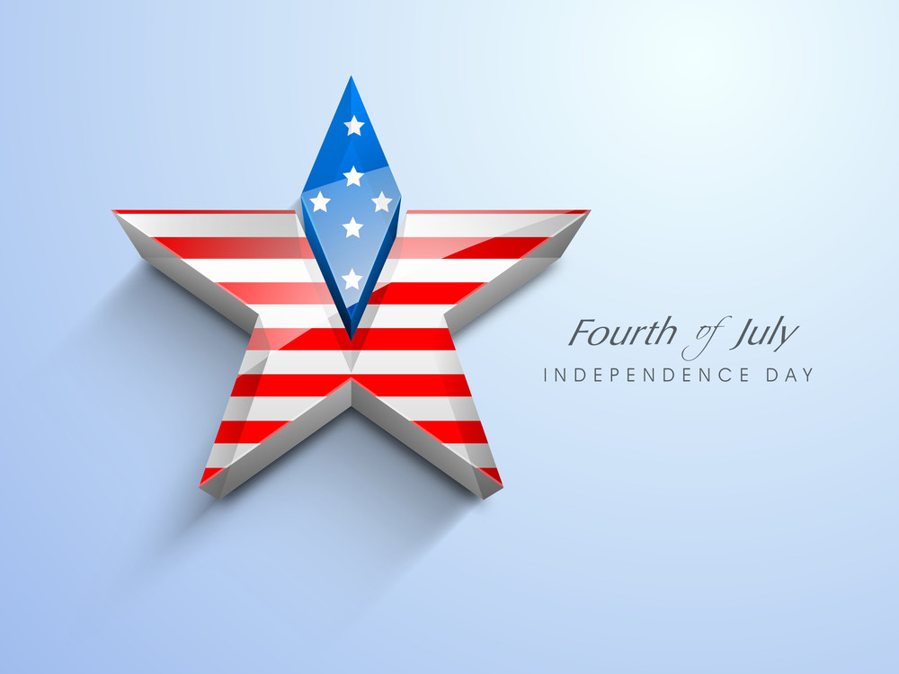3d Star In American Flag