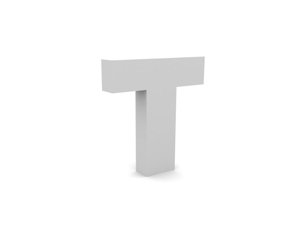 3d T Alphabet