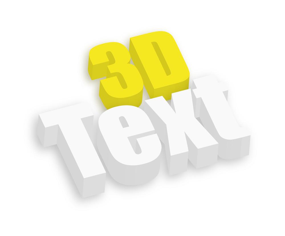 3d Text Banner