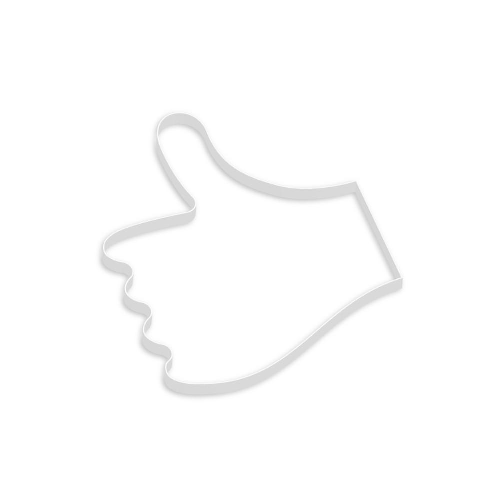 3d Thumbs Up Hand Shape