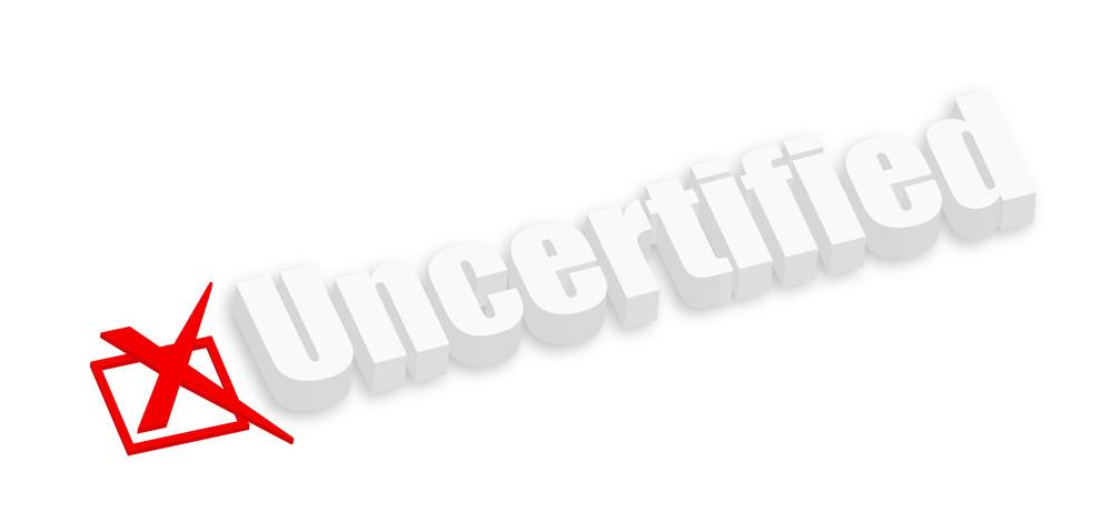3d Uncertified Banner