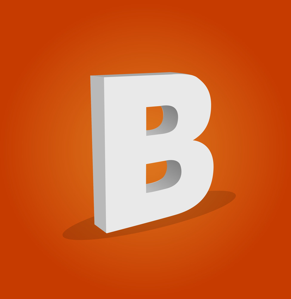 3d Vector Alphabet B Text