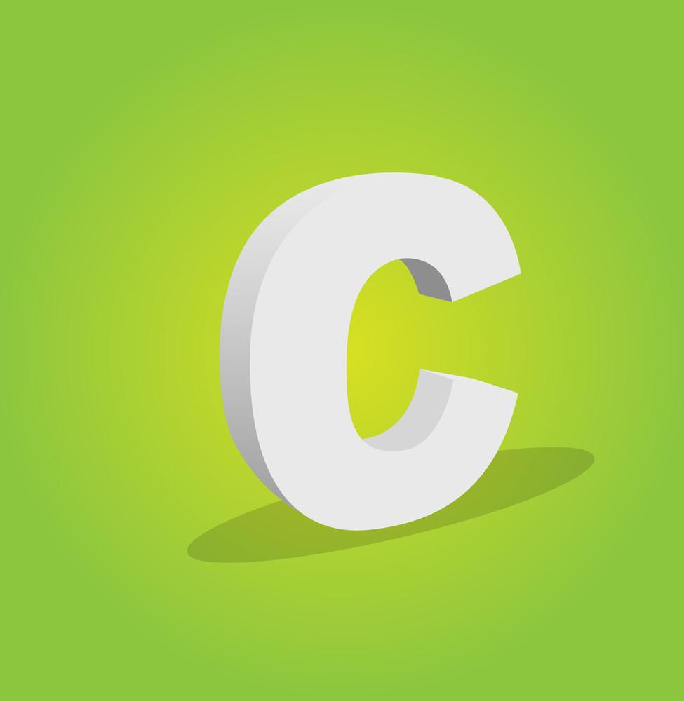 3d Vector Alphabet C Text