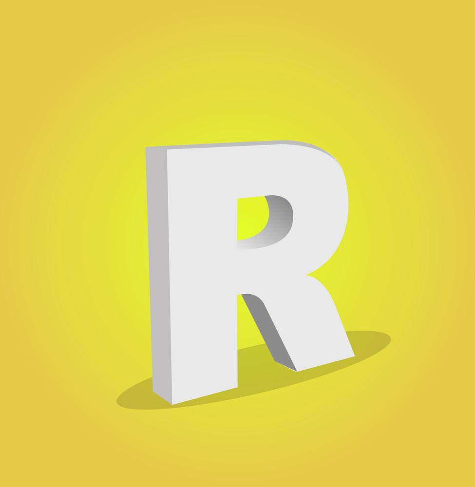 3d Vector Alphabet R Text