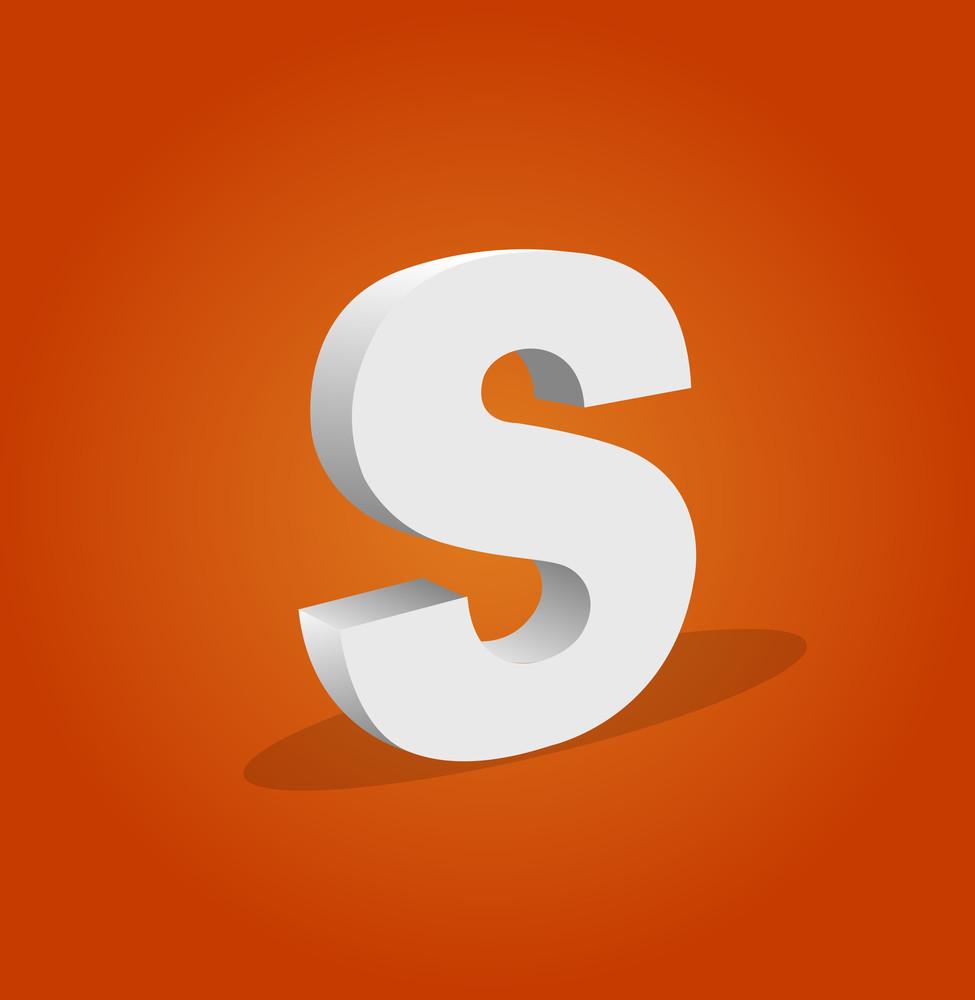 3d Vector Alphabet S Text