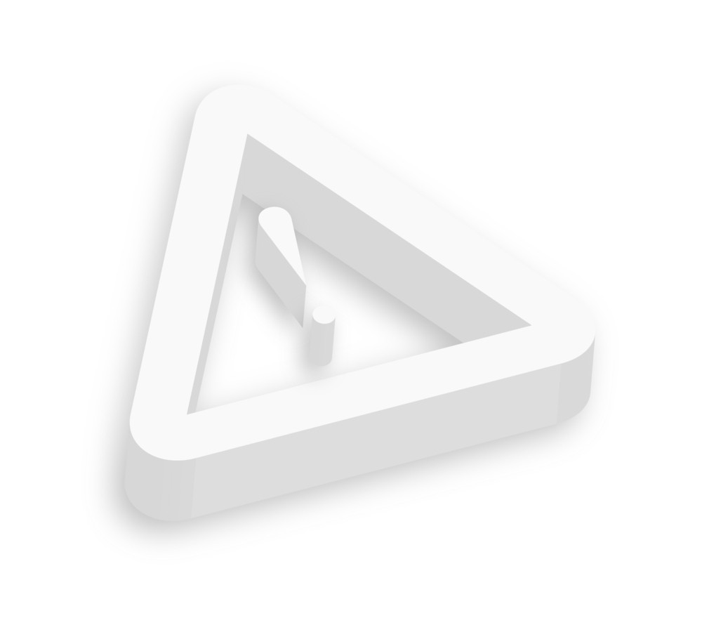 3d Warning Icon