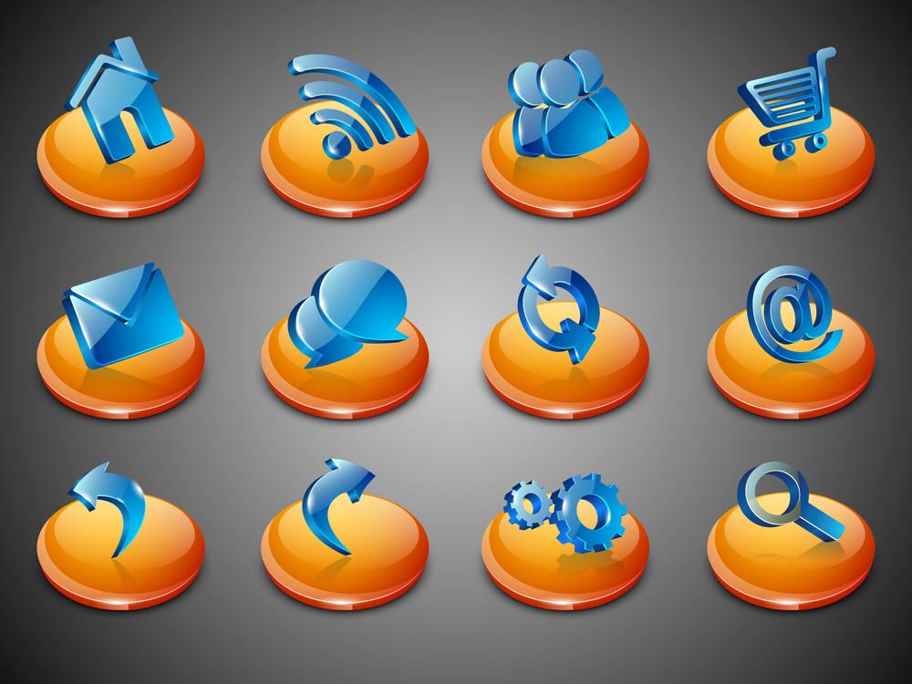 3d Web 2.0 Mail Icons Set.
