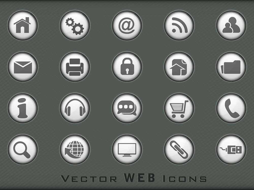 3d Web  Mail Icons Set For Websites