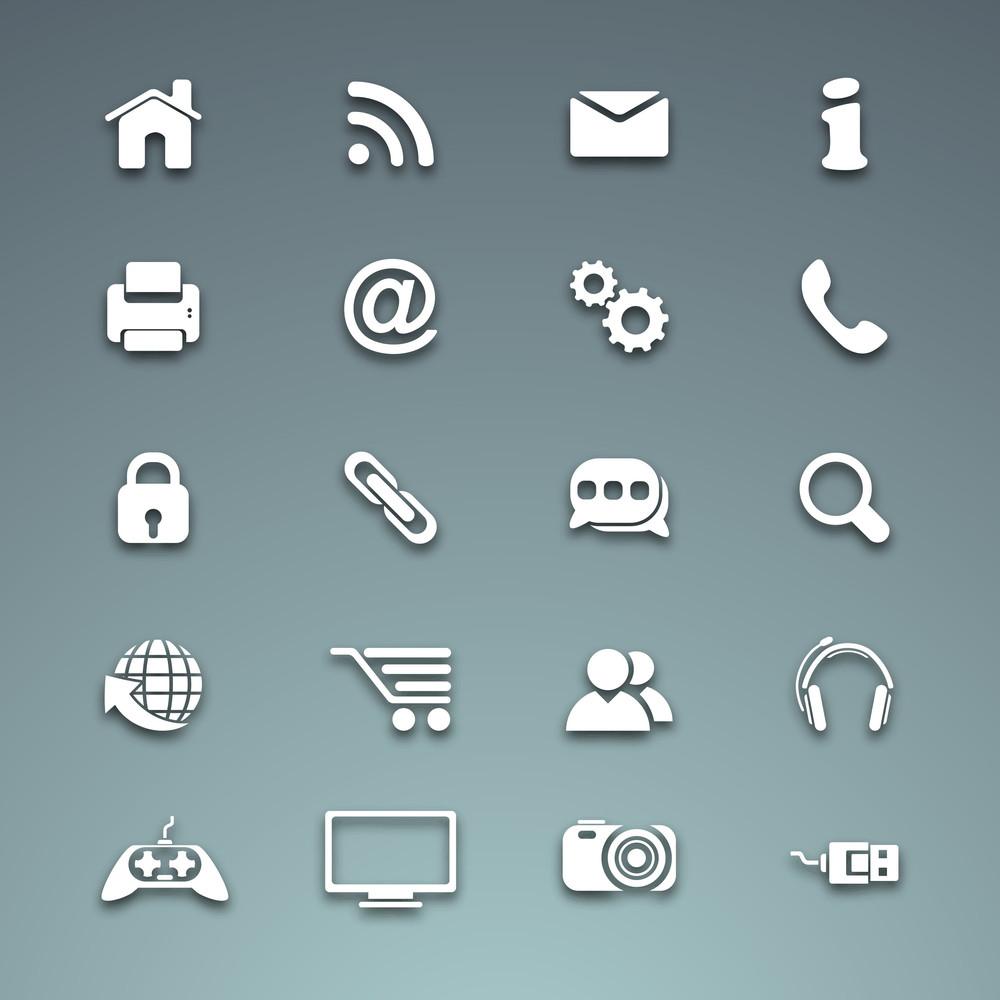 3D-Web-Mail-Icons Set