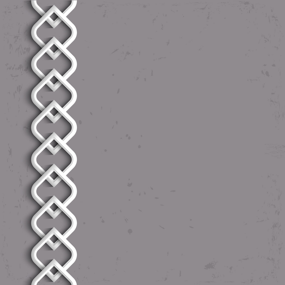 3d White Border In Arabic Style