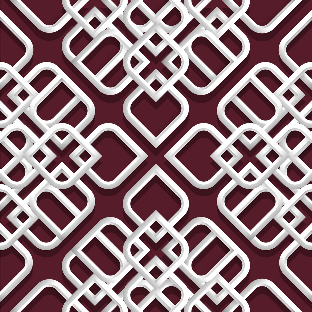 3d White Ornament In Arabic Style