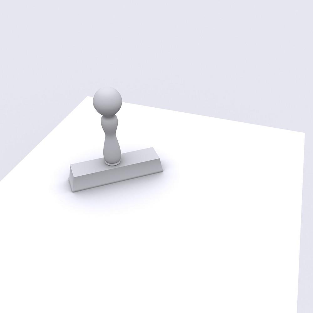 3d White Stamp