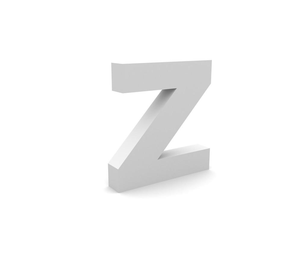 3d Z Alphabet