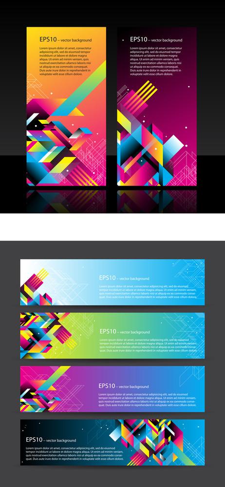 4 Beautiful Horizontal Web Banners