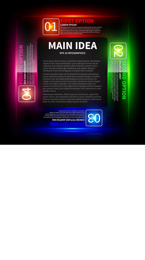 4 Colorful Glowing Options