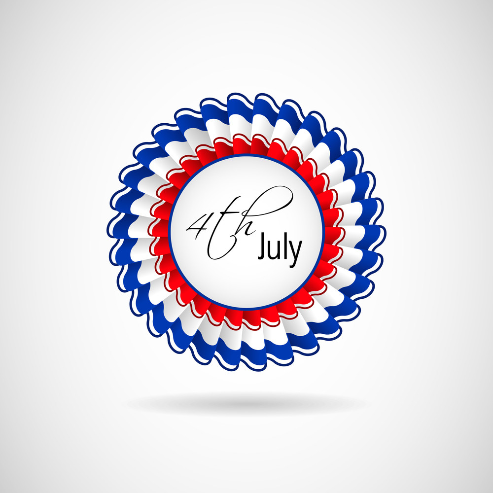 4th July Badge.