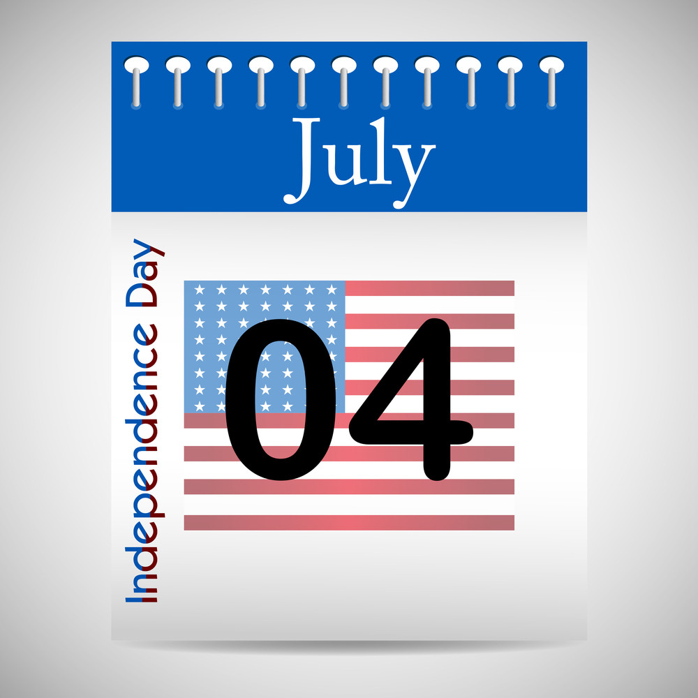 4th July Calendar.