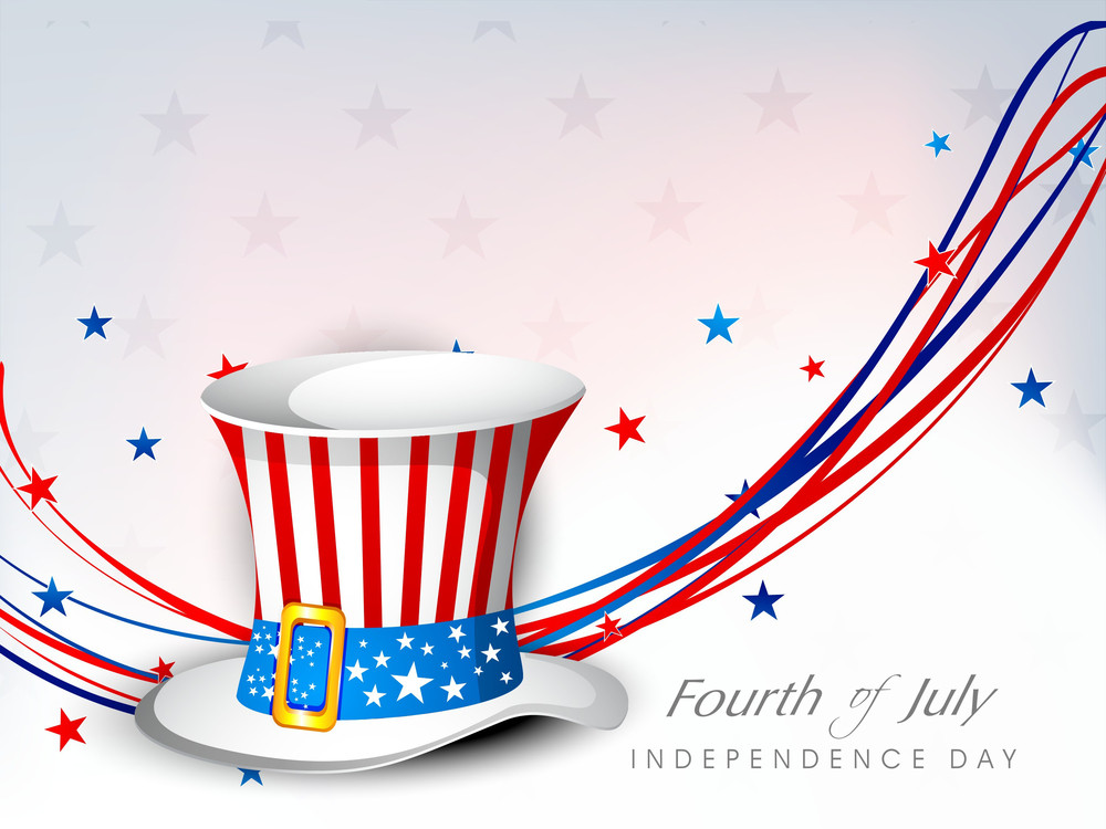 Th Of July American Independence Day Flyer RoyaltyFree Stock Image