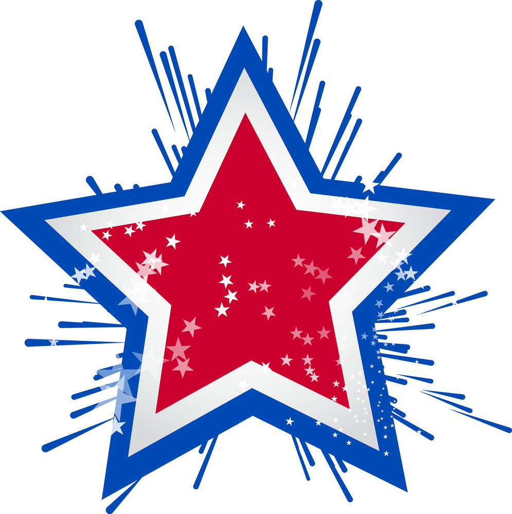 4th Of July Celebration Star