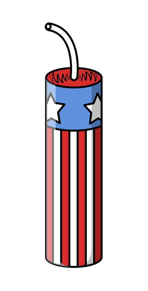 4th Of July Cracker Vector