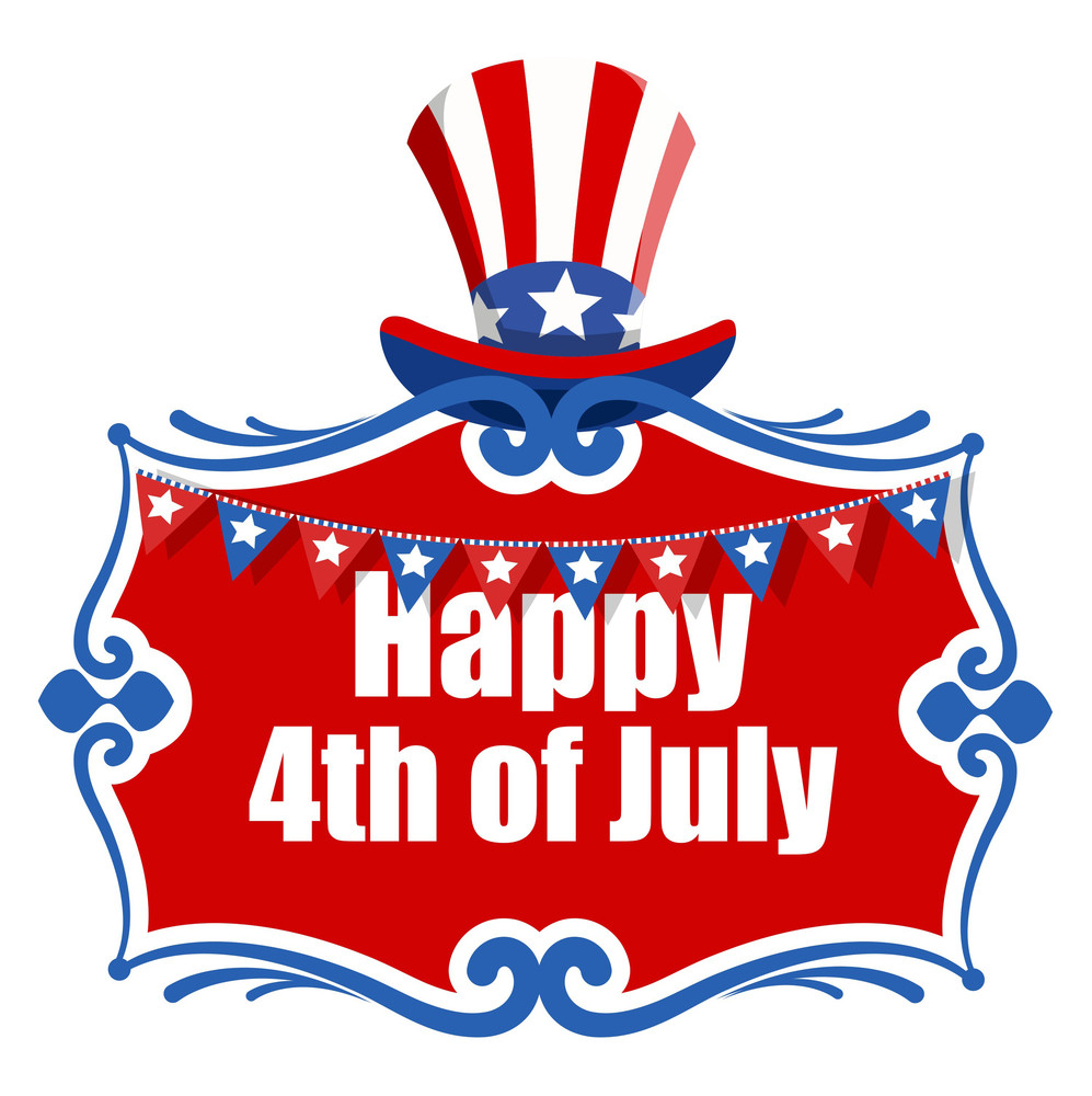 4th Of July - Greeting Text Banner