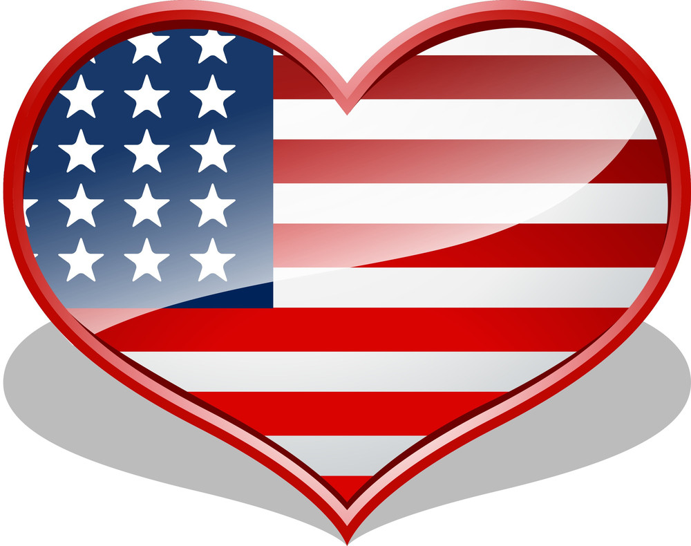 4th Of July Love Heart
