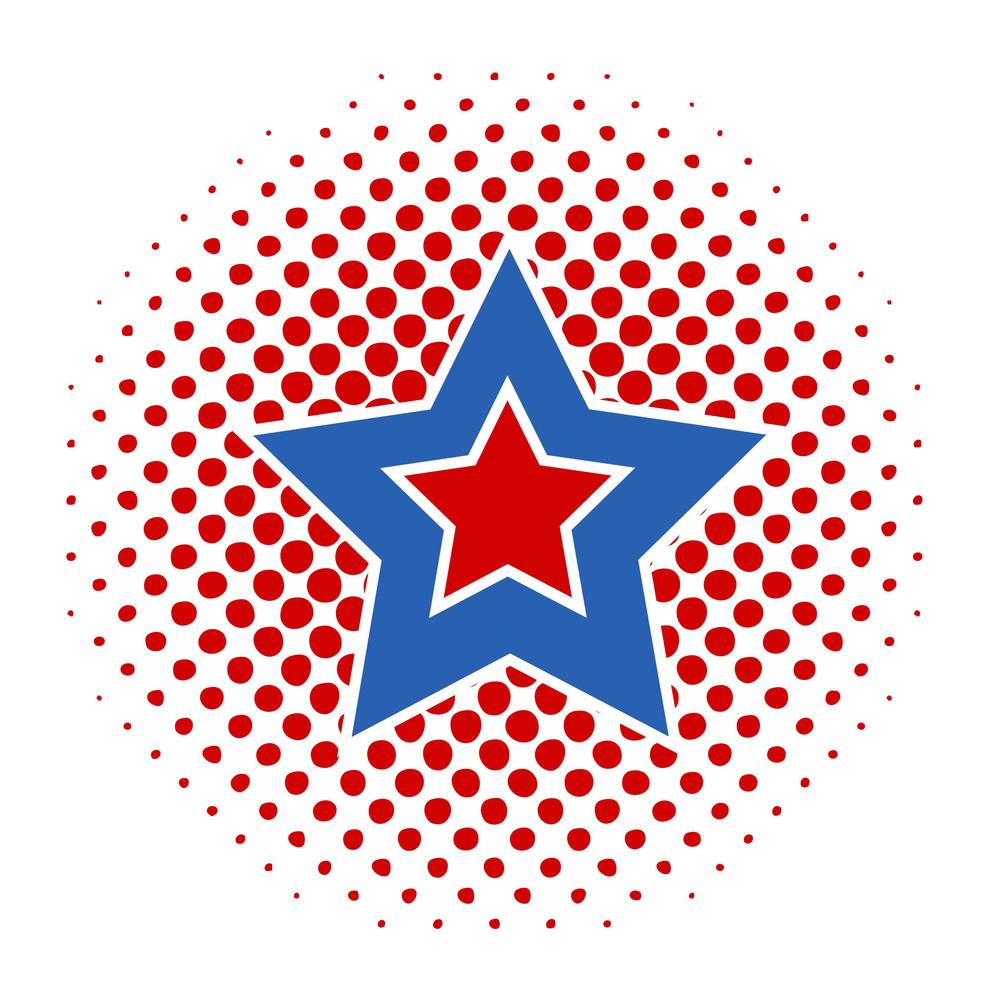 4th Of July Retro Star Vector