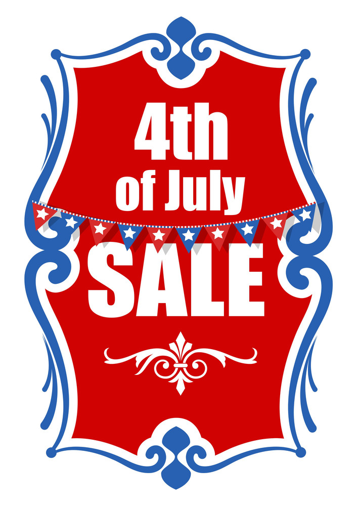 4th Of July Sale Banner Vector