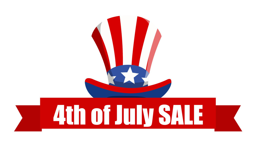 4th Of July Sale Ribbon Banner Vector