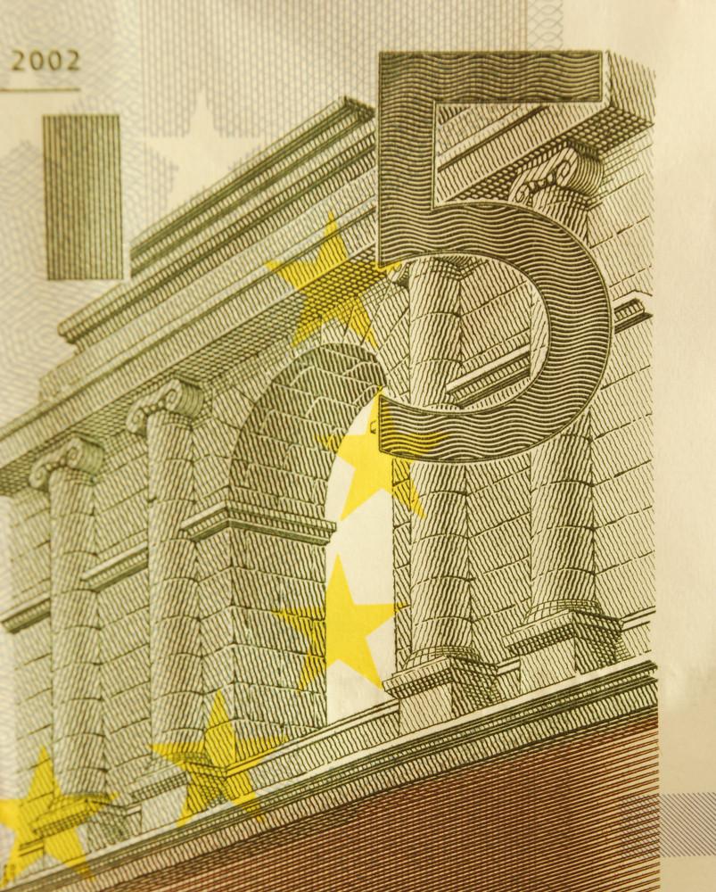 5 Euro Bill (close Up)