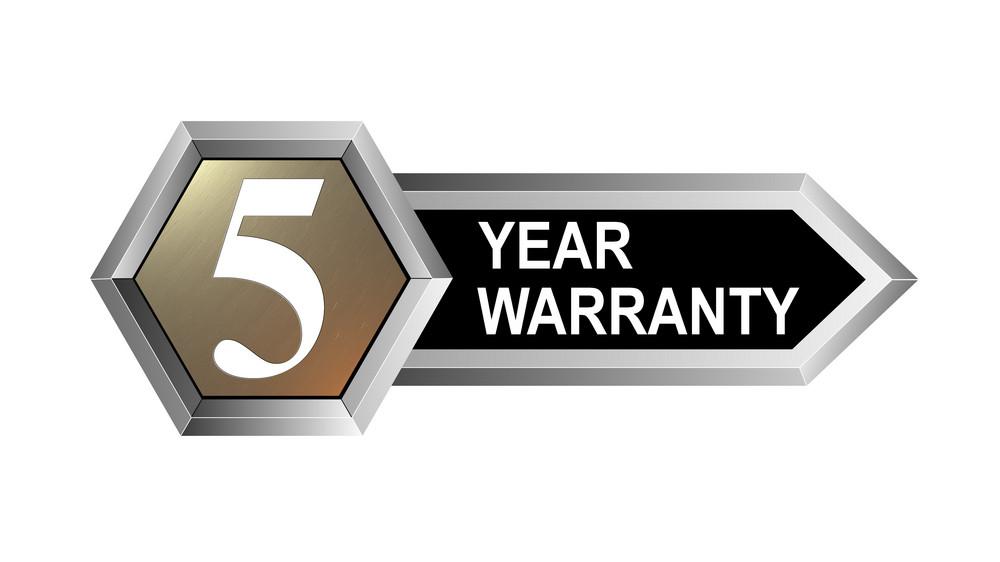 5 Year Warranty Hexagon Seal