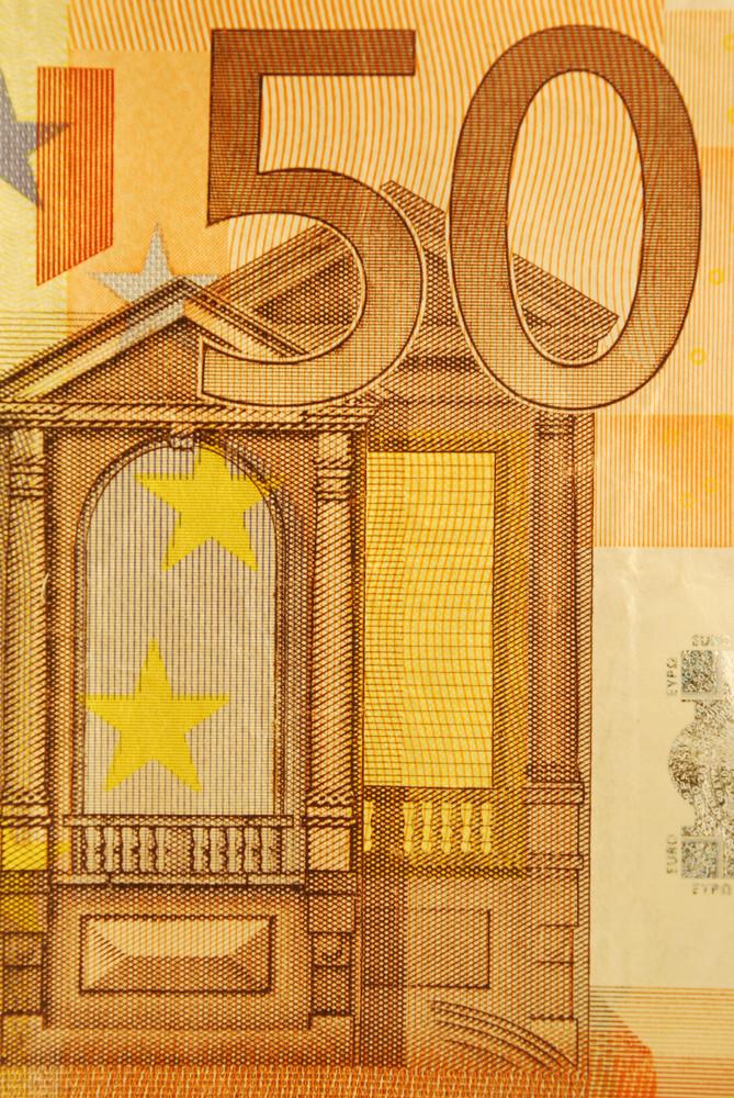 50 Euro Bill (close Up)