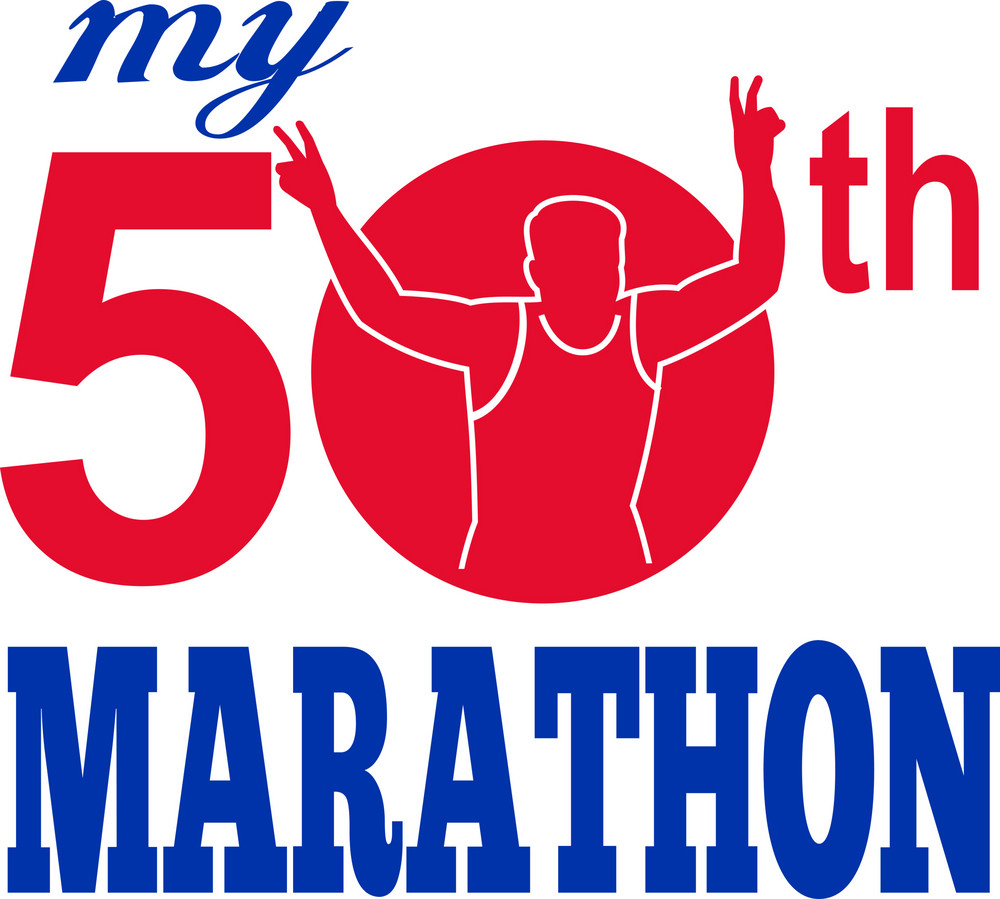 50th Marathon Run Race Runner