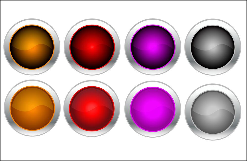 8 Color Buttons
