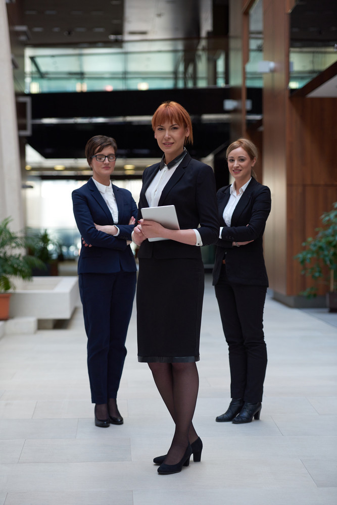 Young Business Woman Group