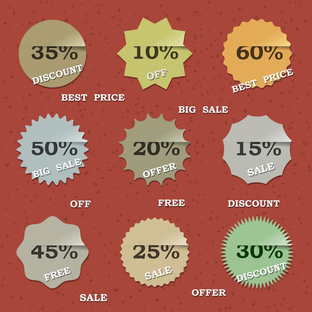 9 Vintage Sale Labels