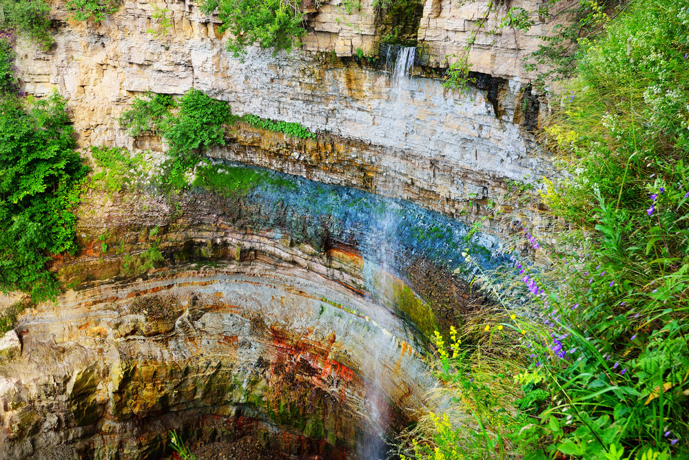 Valaste Juga Waterfall In Estonia