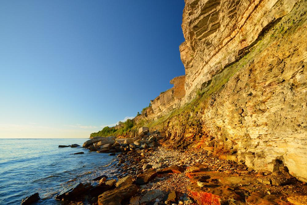 Cliffs At The Coast In Paldiski