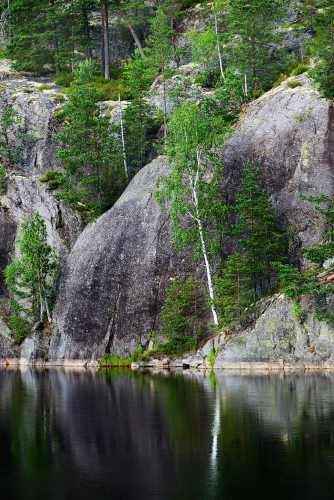 Granite Rocks And Cliffs In Finland