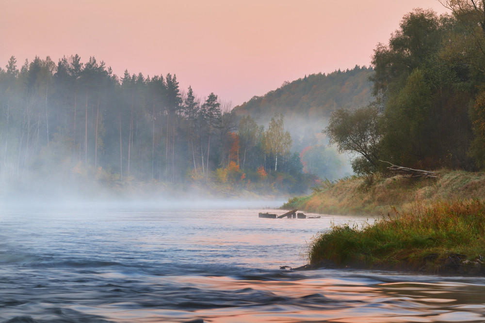 Autumn Gauja River In Sigulda