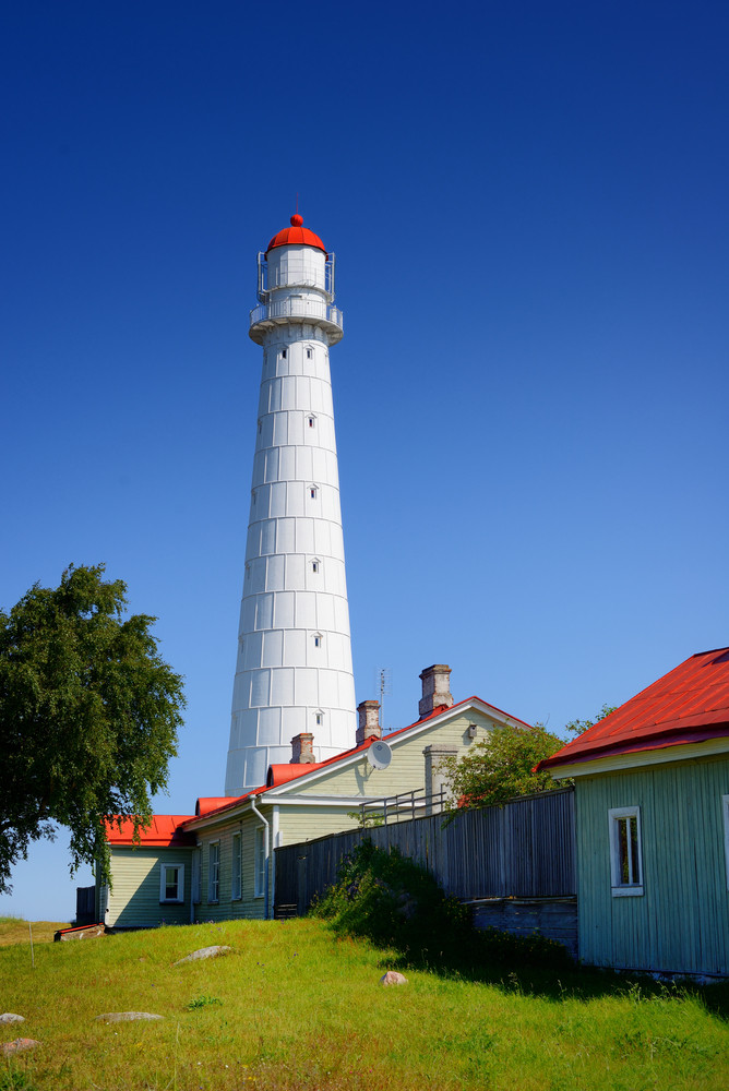 White Lighthouse On The Hiumaa Island