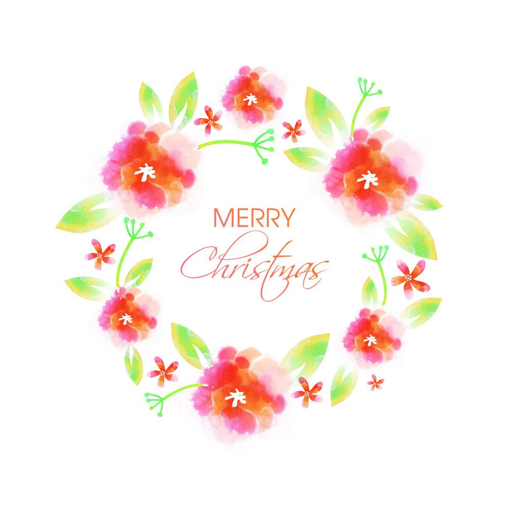 Elegant greeting card design decorated with beautiful flowers for elegant greeting card design decorated with beautiful flowers for merry christmas celebration izmirmasajfo